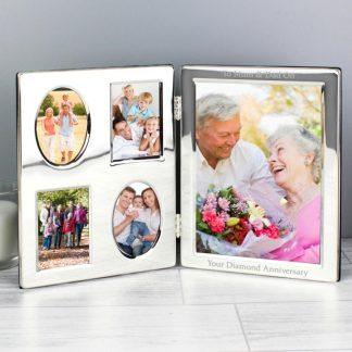 Personalised Family Portrait Folding Photo Frame