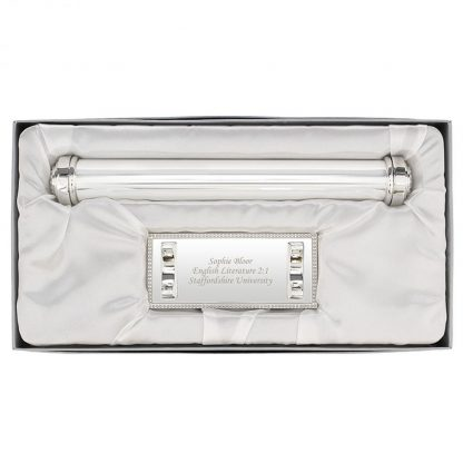 Personalised Silver Certificate Holder