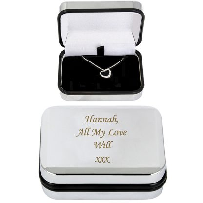 Personalised Heart Necklace Gift Boxed