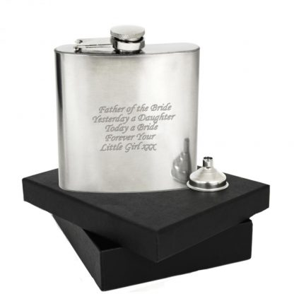 Personalised Boxed Stainless Steel 6oz Hip Flask