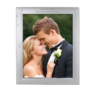 Personalised 10x8 Diamante Swirl Photo Frame