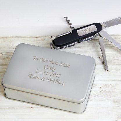 Personalised Pen Knife Multi Tool Box Set