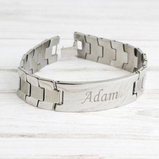 Personalised Stainless Steel Men's ID Bracelet