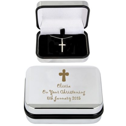 Personalised Cross Necklace Gift Boxed