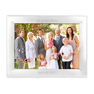 Personalised Landscape Silver 7x5 Photo Frame