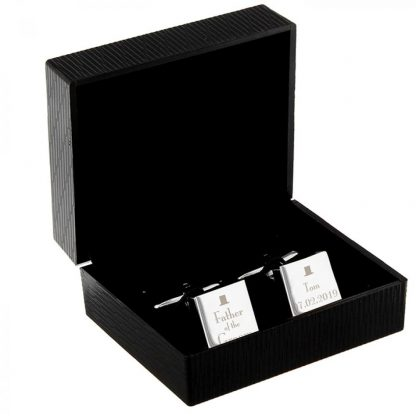 Personalised Decorative Wedding Father of the Groom Cufflinks