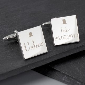 Personalised Decorative Wedding Usher Cufflinks
