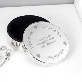 Personalised Special Mum Round Trinket Box