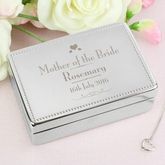 Personalised Decorative Wedding Mother of the Bride Jewellery Box