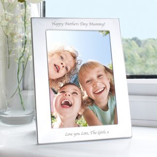 Personalise 7x5 Silver Photo Frame