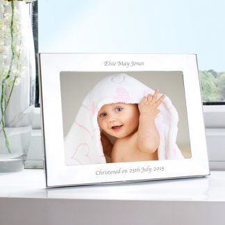 Personalised 7x5 Silver Landscape Photo Frame