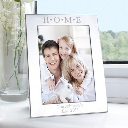 Personalised Silver 7x5 Home Photo Frame