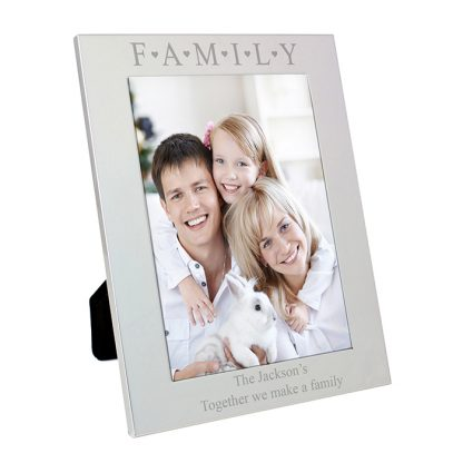 Personalised Silver 7x5 Family Photo Frame
