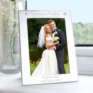 Personalised Silver 7x5 Our Daughter's Wedding Photo Frame
