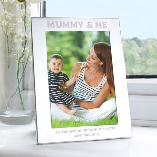 Personalised Silver 7x5 Mummy & Me Photo Frame