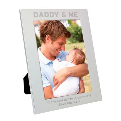 Personalised Silver 7x5 Daddy & Me Photo Frame