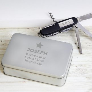 Personalised Star Multi Tool Pen Knife and Box Set