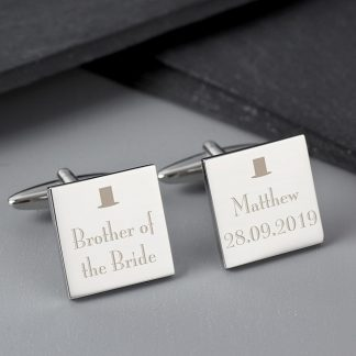 Personalised Decorative Wedding Any Role Cufflinks