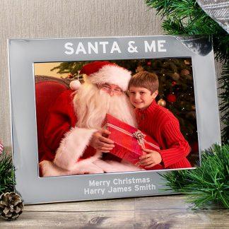 Personalised Santa & Me 7x5 Photo Frame