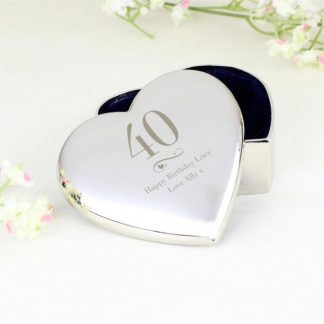 Personalised Big Age Heart Trinket Box