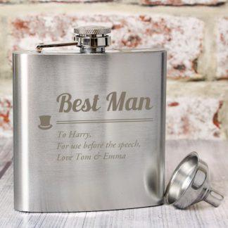 Personalised Best Man Hip Flask