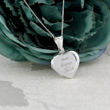 Personalised Sterling Silver 'Always' Heart Locket