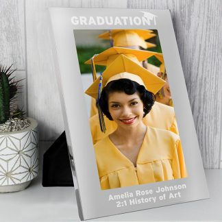 Personalised Silver 5x7 Graduation Photo Frame