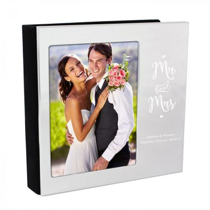 Personalised Mr and Mrs 4x6 Photo Frame Album