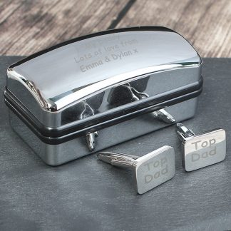 Personalised Case and Top Dad Cufflinks