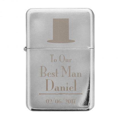 Personalised Decorative Wedding Best Man Lighter