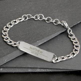 Personalised Classic Stainless Steel Unisex Bracelet