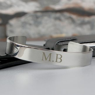 Personalised Initial Stainless Steel Bangle