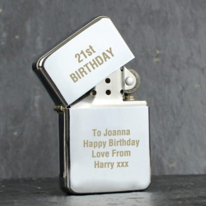 Personalised Chrome Silver Lighter