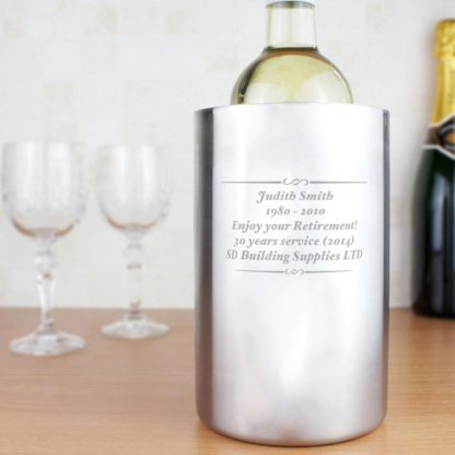 Personalised Stainless Steel Wine Cooler