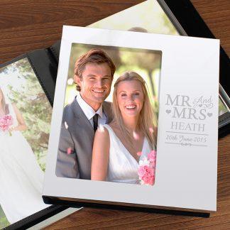 Personalised Mr & Mrs Photo Album
