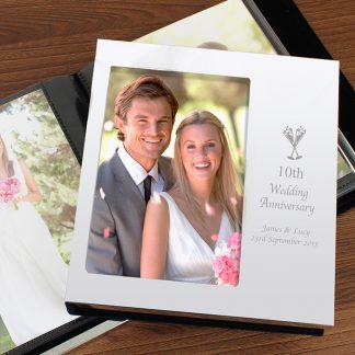 Personalised Flute Wedding Anniversary Photo Album