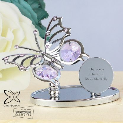 Personalised Crystocraft Butterfly Ornament