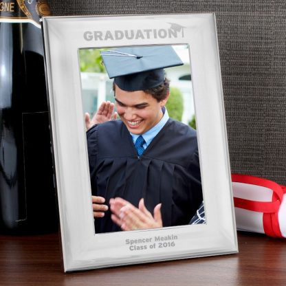 Personalised Silver 6x4 Graduation Photo Frame