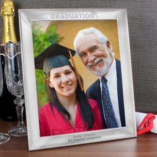 Personalised Silver 10x8 Graduation Photo Frame