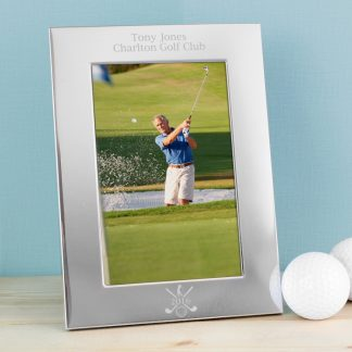 Personalised Silver Golf 6x4 Portrait Photo Frame