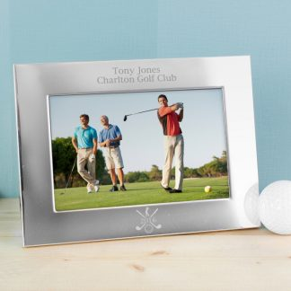 Personalised Silver Golf 6x4 Landscape Photo Frame