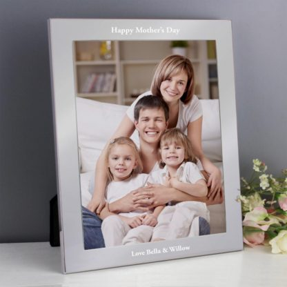 Personalised Any Message Silver 10x8 Photo Frame