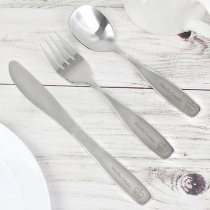 Personalised 3 Piece Princess Cutlery Set