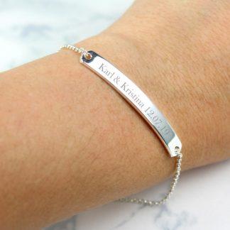 Personalised Silver Tone ID Bracelet