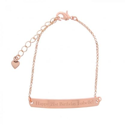 Personalised Rose Gold Tone ID Bracelet
