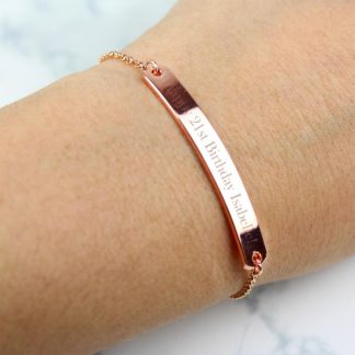 Personalised Rose Gold Tone ID Bracelet