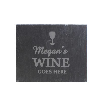 Personalised Wine Goes Here... Slate Coaster