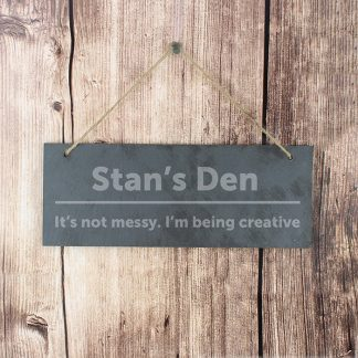 Personalised Bold Design Slate Sign