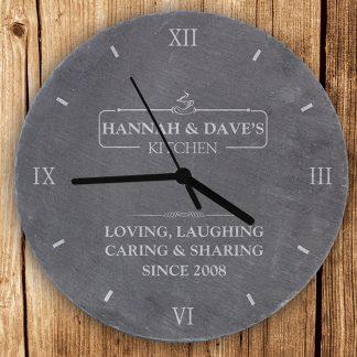 Personalised Kitchen Slate Wall Clock