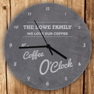 Personalised OClock Slate Wall Clock